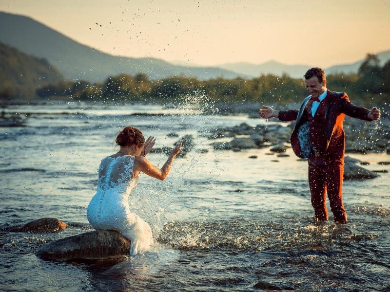 cérémonie mariage rivière