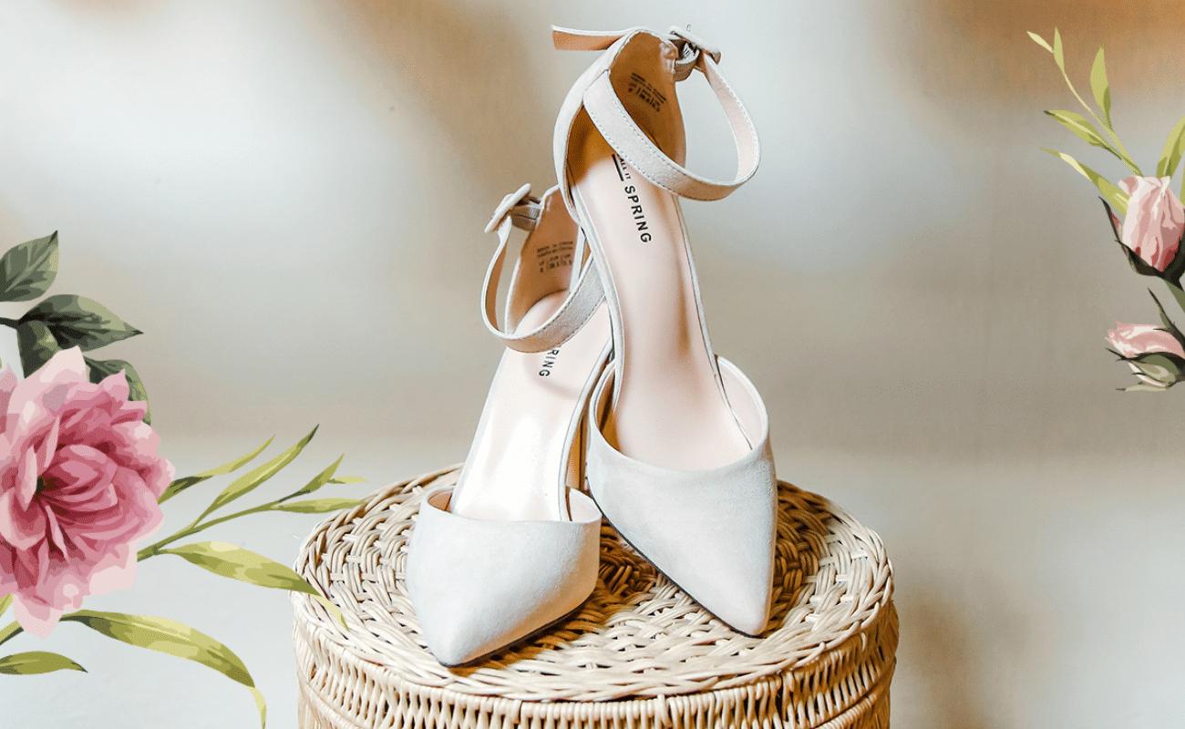 chaussures mariée blanche crème talons