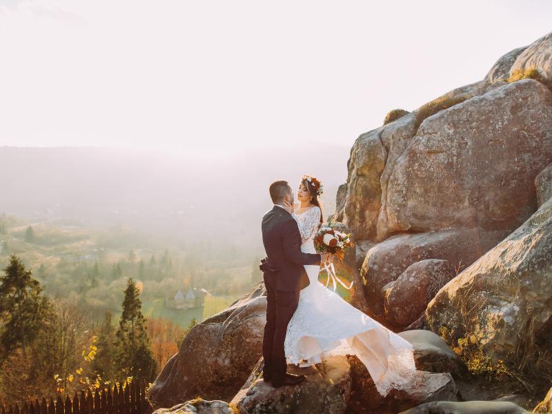 elopement falaise montagne mariage