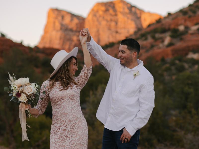 elopement désert cérémonie mariage